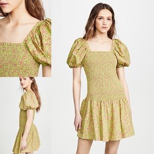 NWT Tanya Taylor Eden Floral Puff Sleeve Dress